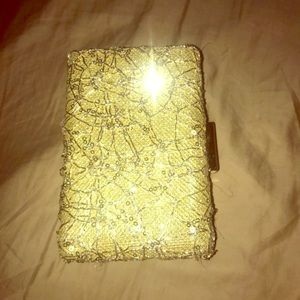 Gold detailed clutch
